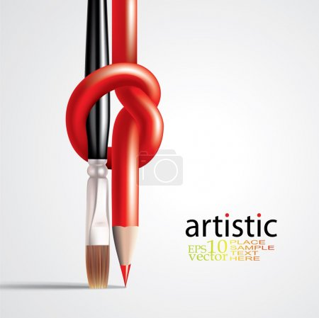 Illustration for Vector background with knot pencil - Royalty Free Image