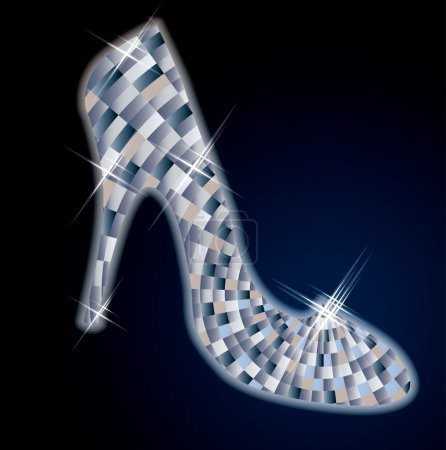 Illustration for Beautiful Diamond shoes, vector illustration - Royalty Free Image