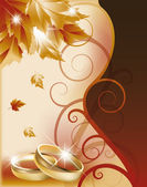 Autumn wedding invitation card. vector illustration