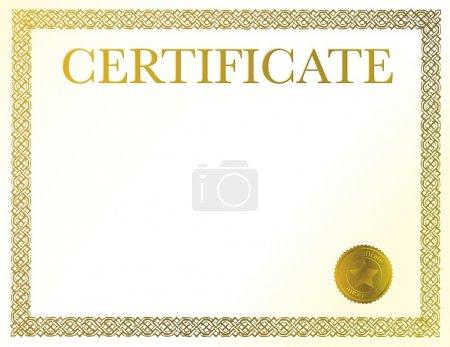 Photo pour Un modèle de certificat. prêt à être rempli avec votre texte individuel. - image libre de droit