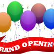 Illustration of an official grand opening with rib...