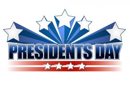 Photo pour Panneau du jour des Présidents isolé sur fond blanc . - image libre de droit