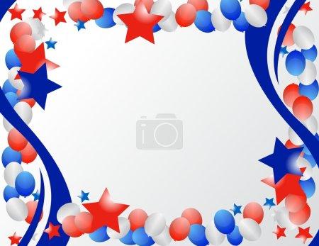 Photo pour Étoiles et rubans illustrés pour fond patriotique - image libre de droit