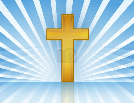 Heiliges Kreuz mit Lichtstrahlen Akte zur Verfügung. / Kreuz im Himmel