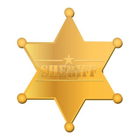 Photo pour Étoile de shériff - image libre de droit