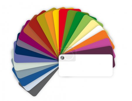 Illustration of a color guide with shades over white