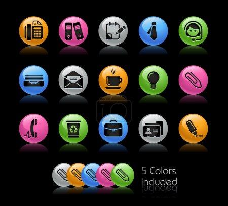 Photo pour +++ Le fichier .eps comprend 5 versions couleur pour chaque icône dans différentes couches +++ - image libre de droit