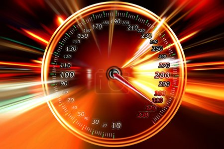 Speed on the speedometer