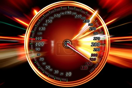 Photo for Acceleration speed motion on speedometer - Royalty Free Image