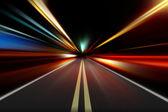 """Постер, картина, фотообои """"абстрактное движение скорости ускорения на ночной дороге"""""""