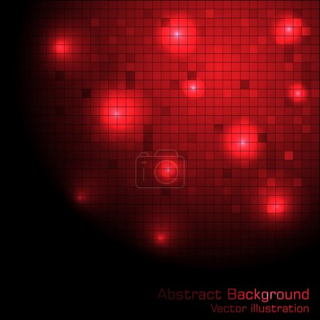 Illustration for Vector red tech background. Clip-art - Royalty Free Image