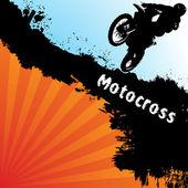 Vector motocross background