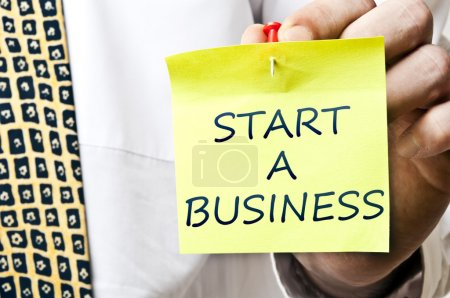 Start a business post it