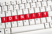 Identita slovo na klávesnici