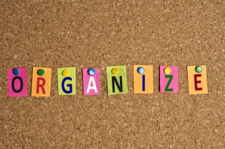 Photo for Organize word made of post it - Royalty Free Image