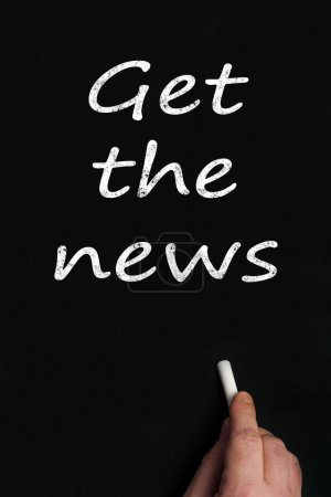 Get the news write on black board...