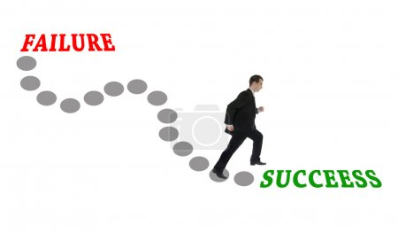 Photo for Road to Success for man in suit - Royalty Free Image