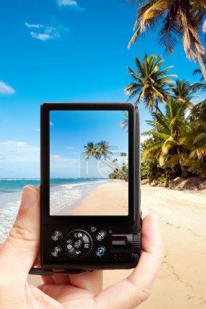 Taking photo of the beach
