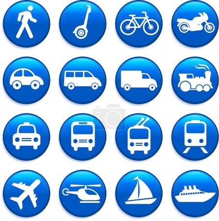 Illustration for Original vector illustration: Transportation icons design elements - Royalty Free Image