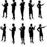 Businesswoman Silhouette Collection\rOriginal Vect...