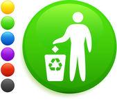 Reycle icona sul pulsante rotondo di internet