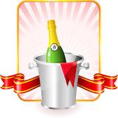 Champagne Valentine den návrhu pozadí