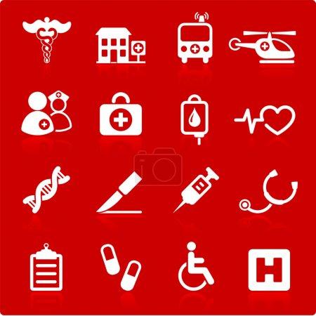 Illustration for Original vector illustration: medical hospital internet icon collection - Royalty Free Image