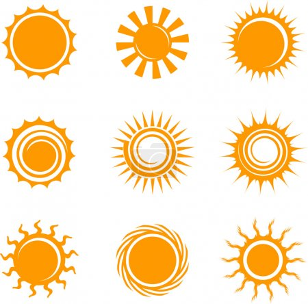 Illustration for Sun Icons Original Vector Illustration Nsture Concept - Royalty Free Image