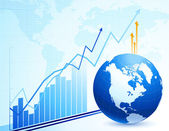 Global business and economy abstract background