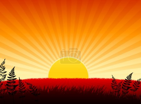 Illustration for Origianl Vector Illustration: Sunset internet background File is AI8 compatible - Royalty Free Image