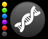 DNA icon on round internet button original vector illustration 6 color versions included