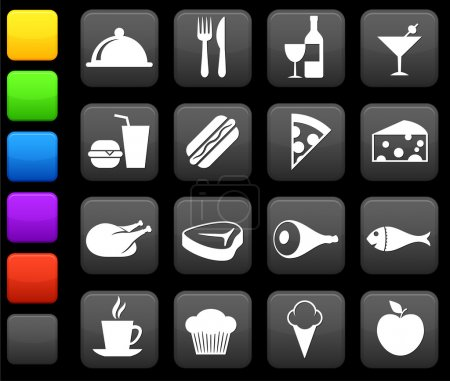 Photo pour Illustration vectorielle originale : collection d'icônes alimentaires et boissons - image libre de droit