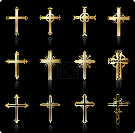 Illustration for Original Vector Illustration: religious cross design collection - Royalty Free Image