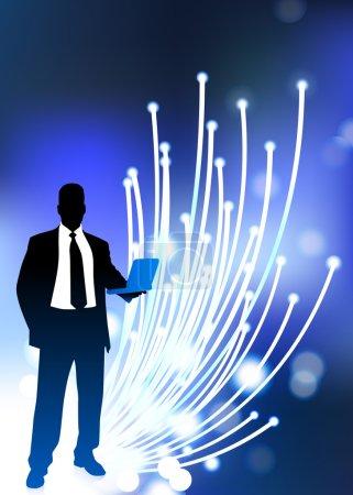 Business communication fiber Optic cable internet background