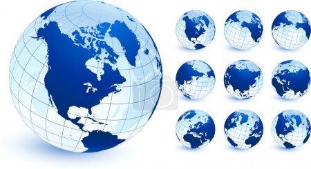 globes Original Vector Illustration