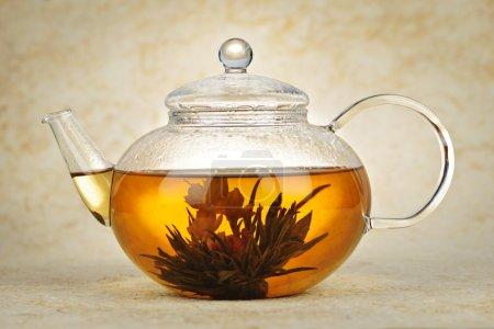 Flowering blooming tea