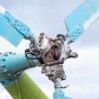 Tail rotor hub of Mil Mi-8 helicopter...