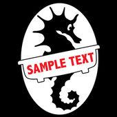 Symbol of hippocampus for bussines