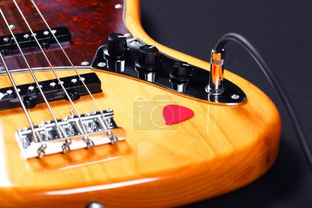 Photo for Bass guitar closeup - Royalty Free Image