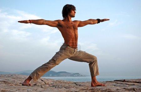 Yoga outdoors.