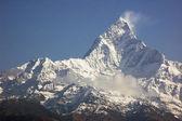 Machapuchare - majestic mountain peak in Himalaya.