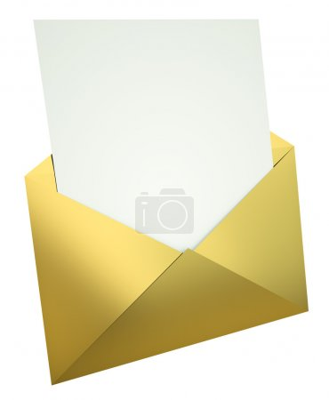 Letter in gold envelope