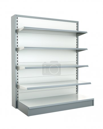 Photo for Empty shop shelf. 3D render. - Royalty Free Image