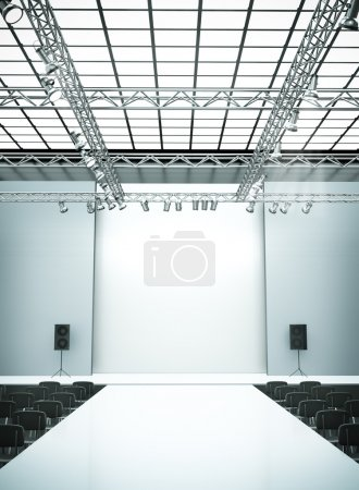 Photo for Empty fashion show stage with runway. 3D rendered image. - Royalty Free Image