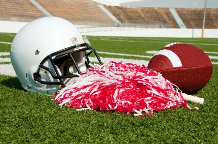 American Football, Helmet, and Pom Poms