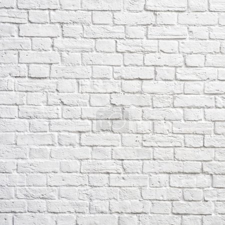 Photo for White brick wall, perfect as a background, square photograph - Royalty Free Image