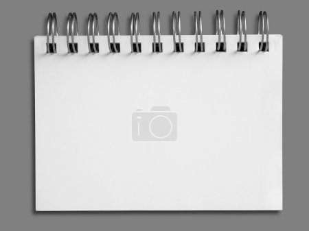 Photo for Blank one face white paper note book - Royalty Free Image