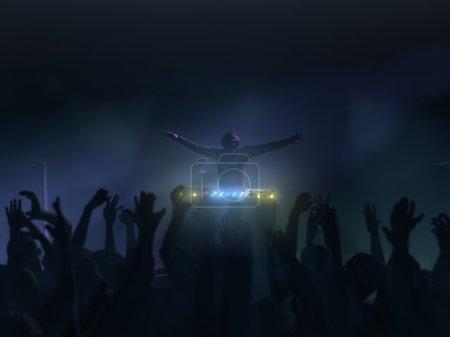 Photo pour Performance de DJ Club rave - image libre de droit