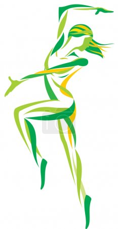 Dance girls vector