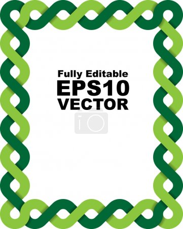Vector frame made of two braided lines